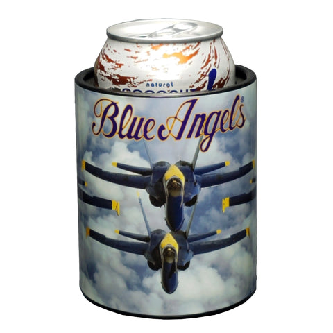 Image of Blue Angels Cloudy Skies Keepzit Kooler Premium Insulated Beverage Holder - Black