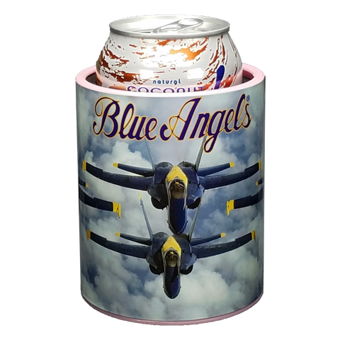 Blue Angels Cloudy Skies Keepzit Kooler Premium Insulated Beverage Holder - Pink