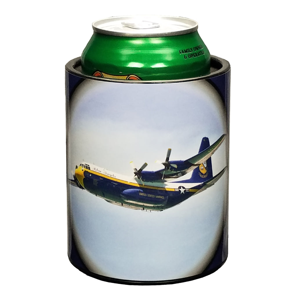 Blue Angels Fat Albert Premium Insulated Beverage Holder Keepzit Kooler - Black