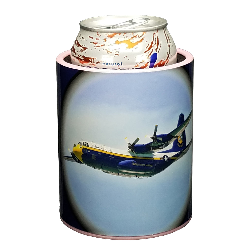 Blue Angels Fat Albert Premium Insulated Beverage Holder Keepzit Kooler - Pink
