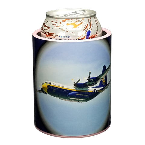 Image of Blue Angels Fat Albert Premium Insulated Beverage Holder Keepzit Kooler - Pink