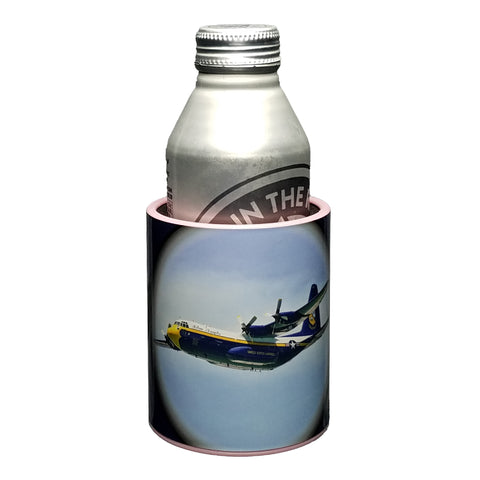 Image of Blue Angels Fat Albert Premium Insulated Beverage Holder Keepzit Kooler - 16 Ounce Bottle