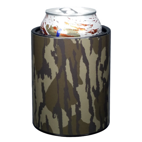 Image of Bottomland Camo Premium Insulated Beverage Holder Keepzit Kooler - Black
