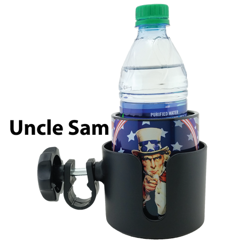 Image of Universal Cup Holder with Removable Keepzit Kooler Insulated Bottle Can Cooler