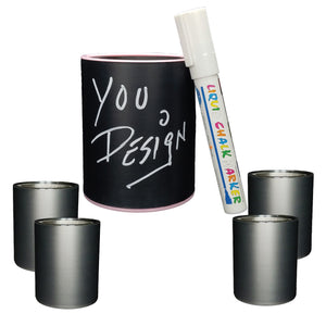 KEEPZIT KOOLER CHALKBOARD (4 PACK) PREMIUM INSULATED BEVERAGE HOLDER WITH WHITE MARKER