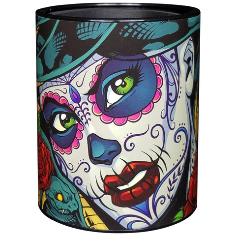 Image of Medusa Sugar Skull Keepzit Kooler Black