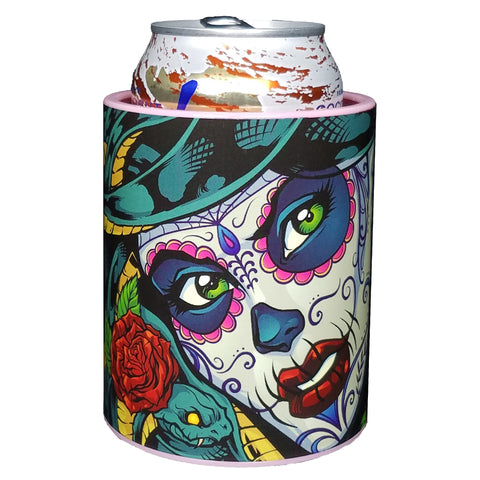 Image of MEDUSA SUGAR SKULL PREMIUM INSULATED BEVERAGE HOLDER - KEEPZIT KOOLER
