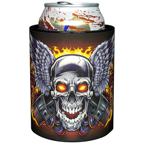 Image of Keepzit Kooler Skull and Pistons Premium Insulated Beverage Holder