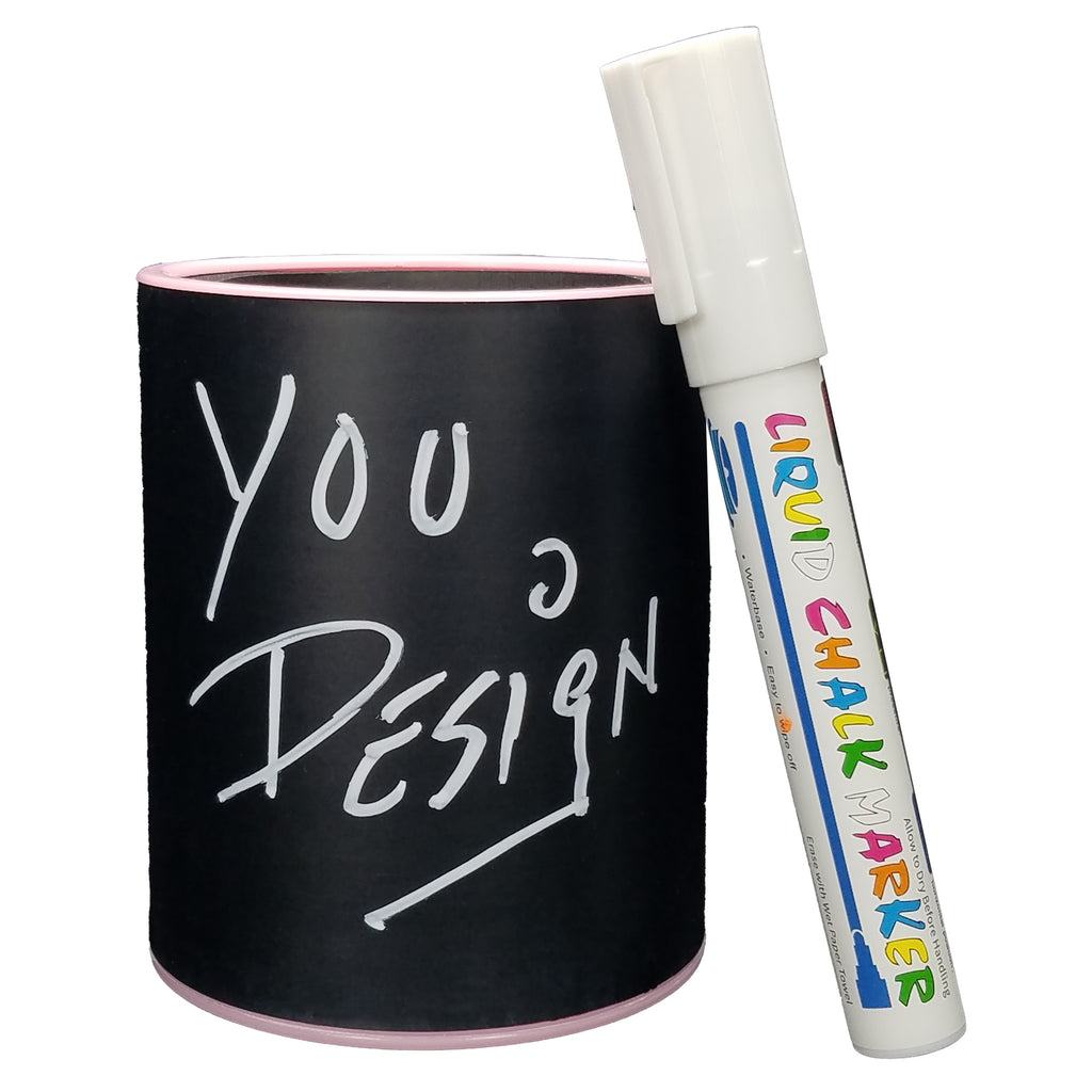 CHALKBOARD KEEPZIT KOOLER (2 PACK) PREMIUM INSULATED BEVERAGE HOLDER WITH WHITE MARKER