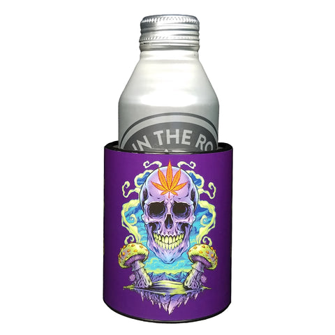 Image of Keepzit Kooler Purple Cannabis Premium Insulated Beverage Holder