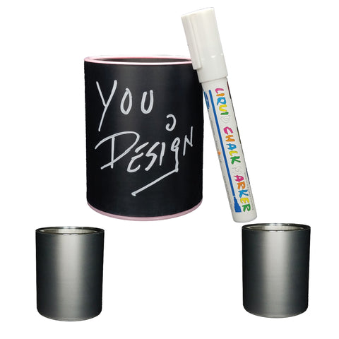 Image of CHALKBOARD KEEPZIT KOOLER (2 PACK) PREMIUM INSULATED BEVERAGE HOLDER WITH WHITE MARKER