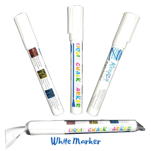 Image of Keepzit Kooler Wet Erase Liquid Chalk Marker - White
