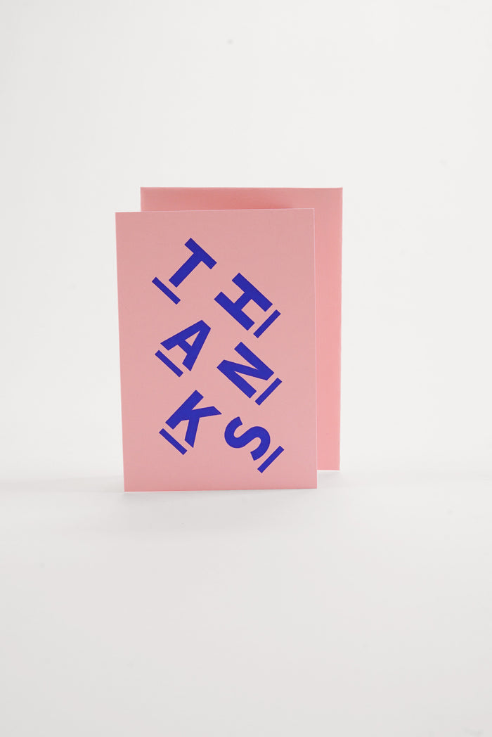 Thanks - Pastel Pink Greeting Card