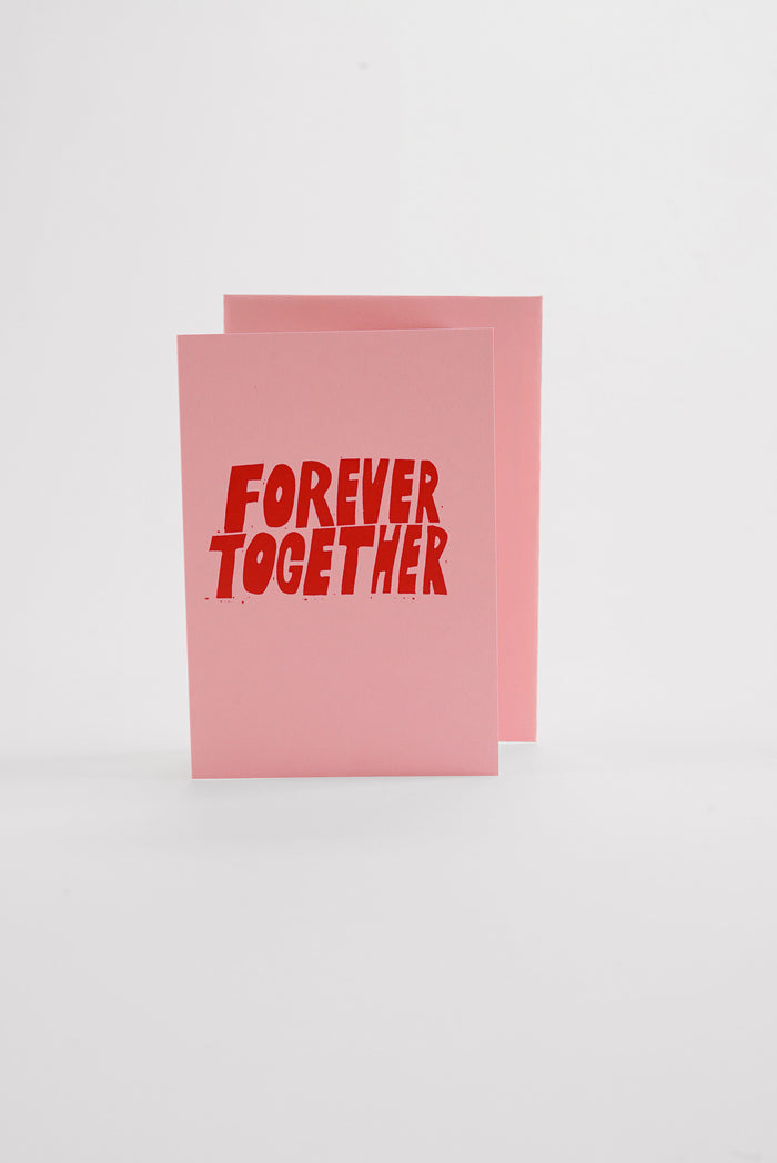 Forever Together - Pastel Pink Greeting Card