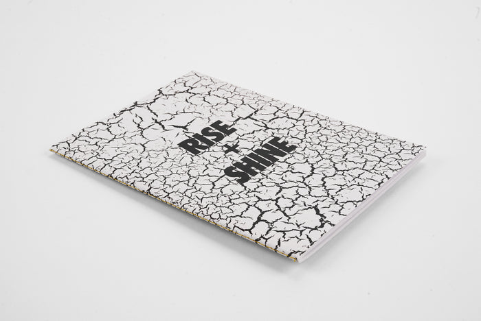Rise + Shine White Fracture - Monochrome A5 Luxe Notebook