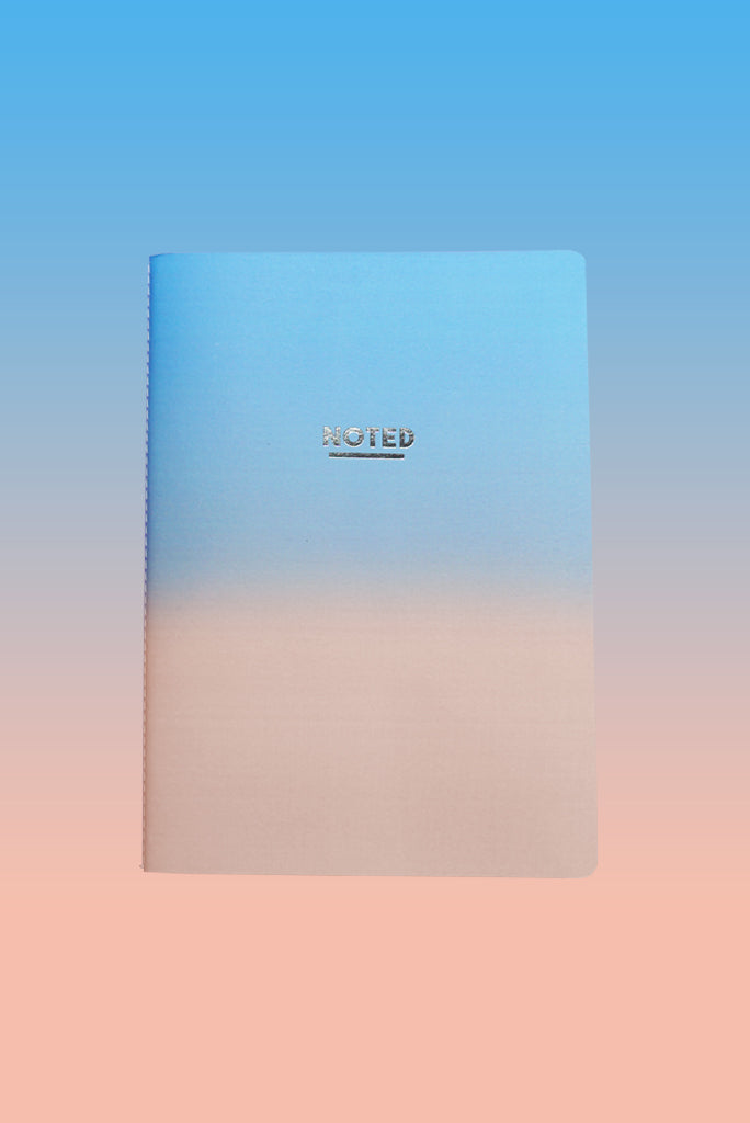 Sunset Blue Pink - Medium Luxe Notebook