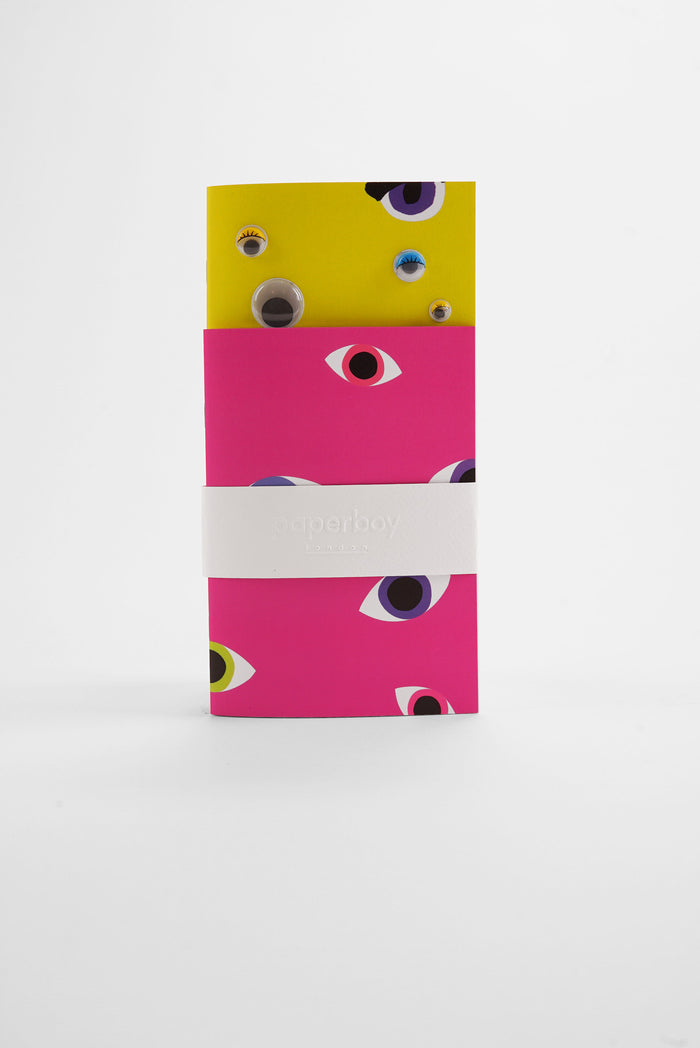 Neon Googly Eye - Pocket Notebooks Twin Pack