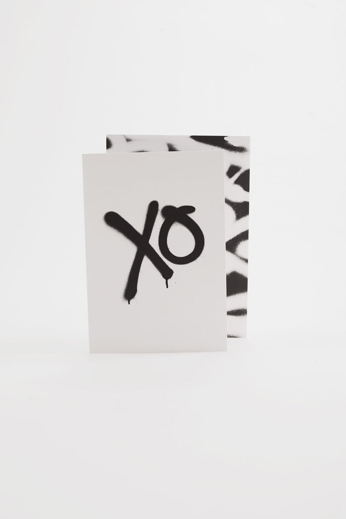 XO - Monochrome Greeting Card
