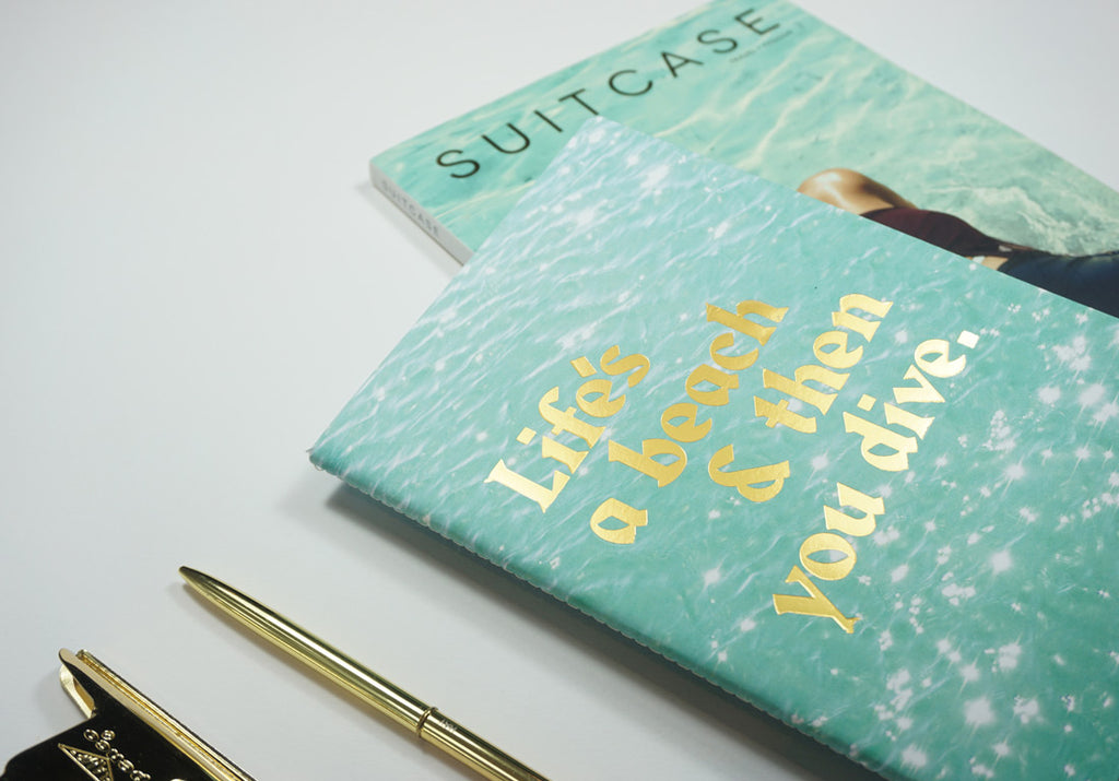 Life's A Beach Two - A5 Luxe SUITCASE Notebook