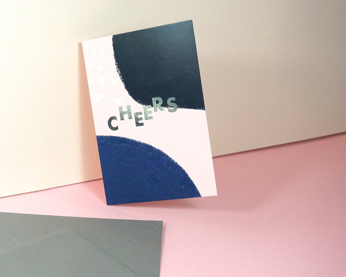 Cheers - Suitcase Foiled Greeting Card