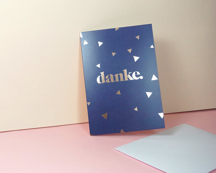 Danke - Suitcase Foiled Greeting Card