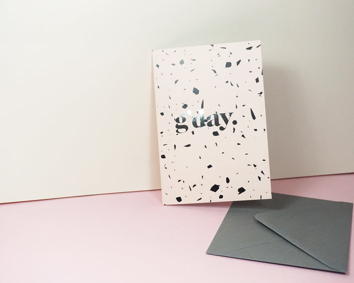 G'Day - Suitcase Foiled Greeting Card