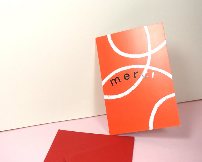 Merci - Suitcase Foiled Greeting Card