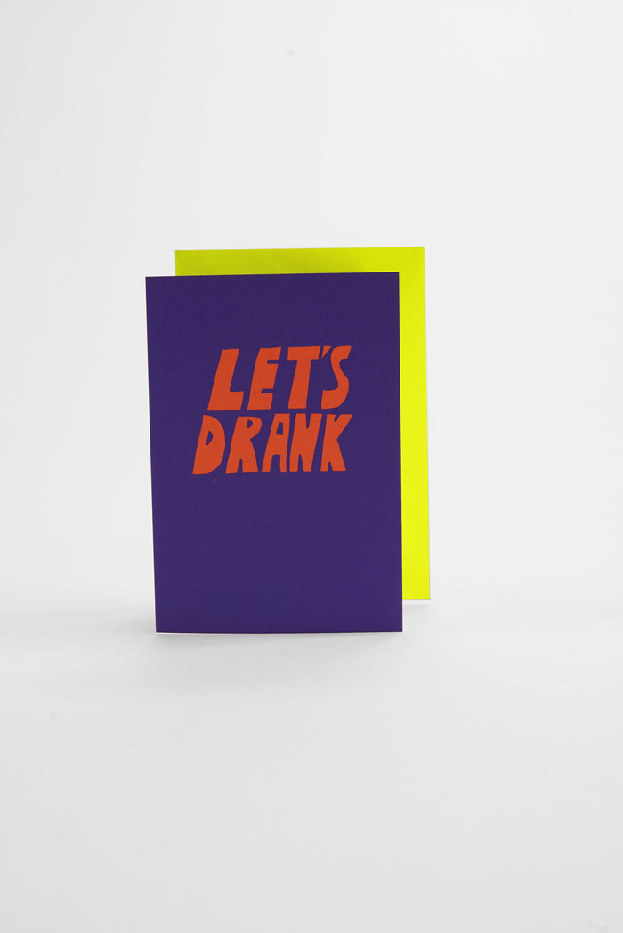 Drank - Neon Greeting Card