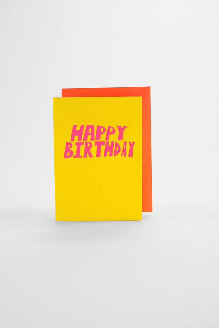 Birthday - Neon Greeting Card
