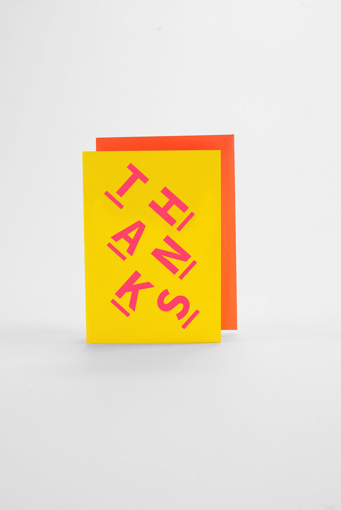 Thanks - Neon Greeting Card
