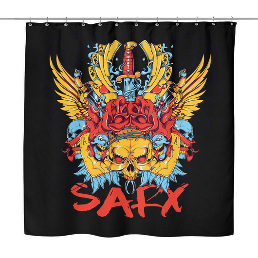 SarX (Color Skull) Shower Curtain, Shower Curtains - Sarx Clothing