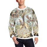 Leonid and Friends Long Sleeve (Tree), Oversized Crewneck Sweatshirt for Men/Large (H18) - Sarx Clothing