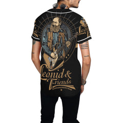 Leonid and Friends Baseball Jersey, All Over Print Baseball Jersey for Men (T50) - Sarx Clothing