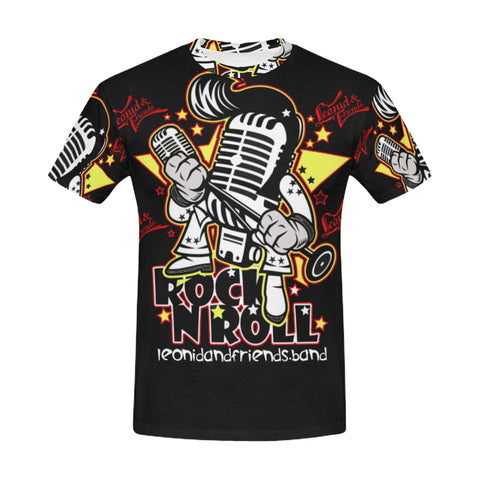 LnF Mic All over, All Over Print T-Shirt for Men (T40) - Sarx Clothing