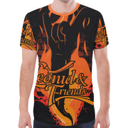 Leonid and Friends ROCK Fire, New All Over Print T-shirt for Men (T45) - Sarx Clothing