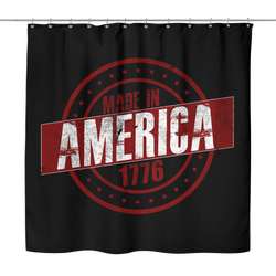 Sarx Made in America Shower Curtain - Sarx Clothing