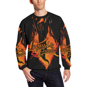 Leonid and Friends (Rock Hand) Long Sleeve, Oversized Crewneck Sweatshirt for Men/Large (H18) - Sarx Clothing