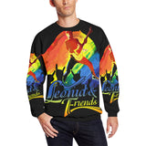 Leonid and Friends Long Sleeve (Rock), Oversized Crewneck Sweatshirt for Men/Large (H18) - Sarx Clothing