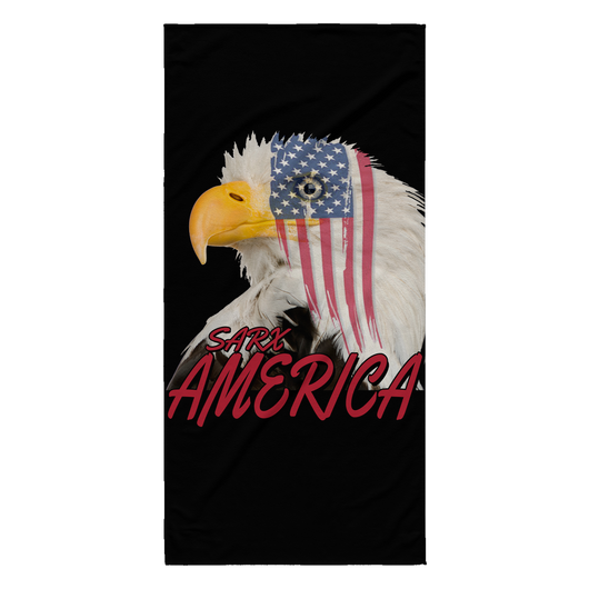 SarX American Eagle Beach Towel, Beach Towel - Sarx Clothing