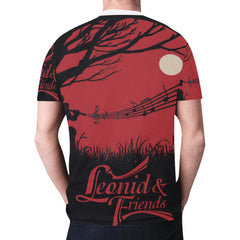 Moon Leonid and Friends All Over Tee, New All Over Print T-shirt for Men (T45) - Sarx Clothing