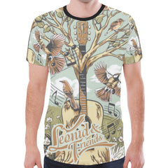 Leonid and Friends All over (Tree of Music), New All Over Print T-shirt for Men (T45) - Sarx Clothing
