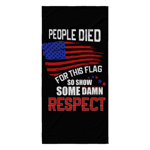 Respect Beach Towel, Beach Towel - Sarx Clothing