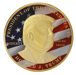 Golden Donald Trump Commemorative Coin,  - Sarx Clothing