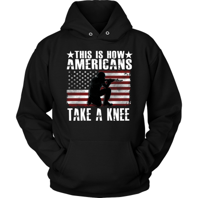 How Americans take a Knee, T-shirt - Sarx Clothing