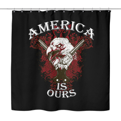 America is ours Shower Curtain, Shower Curtains - Sarx Clothing