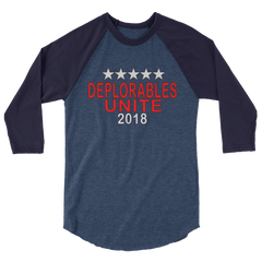 Deplorables unite 2018 sleeve raglan shirt,  - Sarx Clothing
