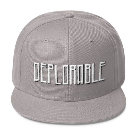 Deplorable Wool Blend Snapback,  - Sarx Clothing