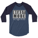 Beast Mode 3/4 sleeve raglan shirt,  - Sarx Clothing