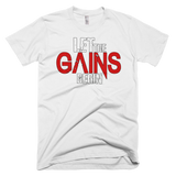 Let the Gains Short sleeve men's t-shirt,  - Sarx Clothing