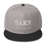 Black/White Writing SarX Wool Blend Snapback,  - Sarx Clothing